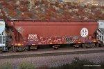 BNSF 425528 at Alray-Cajon Pass, Ca. 10/11/2009