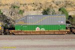 DTTX 725161-A with containers: UPRU 953014 (ArroWedge) and HGWU 652568 at Blue Cut CA. 6/27/2017