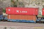BRAN 2003-C with containers: KKFU 913026 & TCNU 961988 at Blue Cut, CA. 6/27/2017