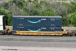 DTTX 729919-B with two 53' Amazon Prime containers at Cajon CA. 6/16/2020
