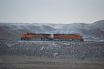 BNSF 6339 and BNSF 5879 wait to push a Coal train at Bell Ayre Coal Mine