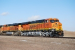 BNSF 6339 the lead push engine pushes its first coal train and only coal train of the day