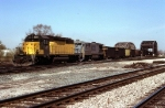 CNW 6811 and CSX 7080 with WEPX Empties