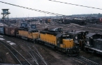 CNW 6891 and UP 3110 Leave Blue Island Yard
