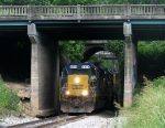 CSX A727 ducking under highway 29 and the A&WP
