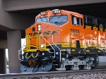 BNSF 7883 emerges from underneath the Hwy 89 Bridge as she pulls a Z train west on her first revenue run out of Chicago, IL.