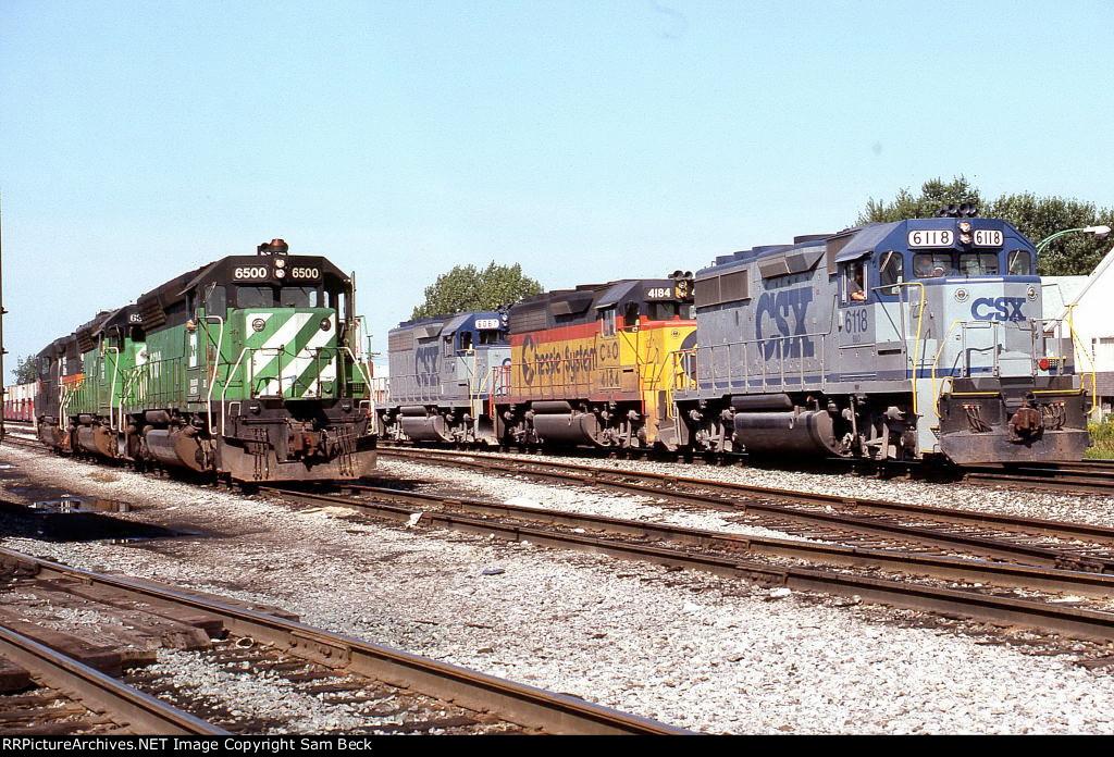 CSX 6118, C&O 4184, and CSX 6067