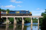 CSXT 8716 Crossing the Satilla River