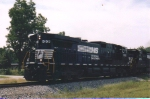 NS ex CofGA Greenville Local runs with two modern GE units in traditional Southern tradition of long hood forward operation on the Greenville Branch.