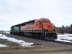 BNSF 3126 & BNSF 2886 Trudge Along at 25mph on Their Way to Pick UP Some Full Grain Hoppers