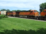 BNSF 7651 and 4065