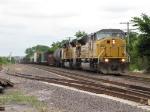 UP 8229 & 8102 lead a long general freight westward