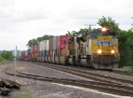 UP 8317 slowly rolls into town with a train for Global 3