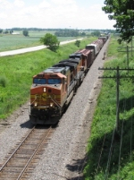 BNSF 5214 & 4192 bring a general freight west as H-BRCNTW
