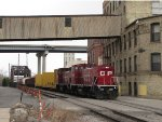 CP 1447 & 1446 work among the old warehouses