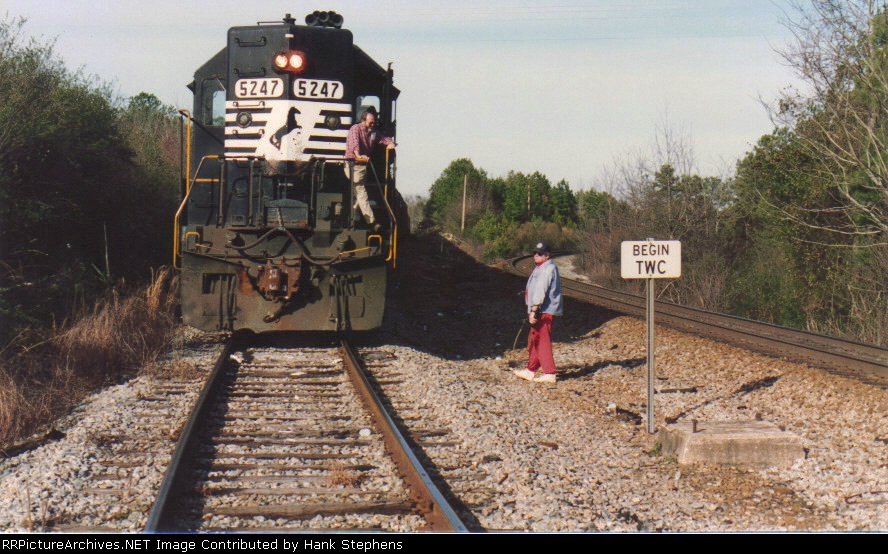 Its only two short miles over CSX to home, but waiting on the CSX dispatcher can mean a long wait.