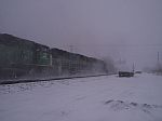 That's EMD 3 in that cloud of snow