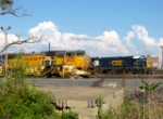 UP 4033 and CSX 8855