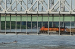 BNSF 6000 and a party boat!