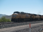 UP 7873 leads a WB autorack at 10:22am