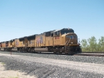UP 4740 leads an EB doublestack at 2:54pm