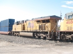 UP 7833 #3 power in a WB doublestack (2IMNLB-07) at 9:11am