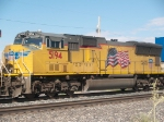 UP 5194 #2 power in an EB doublestack (KGSMN2-07) at 9:29am