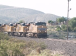 UP 7600 leads a WB doublestack (IEWLB-08) at 8:24am