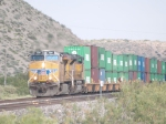 UP 5297 leads an EB doublestack (ITIDI3-07) at 8:51am