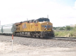 UP 7444 leads a WB manifest (MFWWC-08) at 11:14am