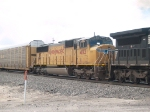 UP 4173 #3 power in a WB autorack at 11:40am
