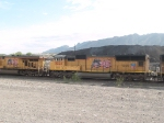 UP 5024 #2 power in a WB doublestack at 8:40am