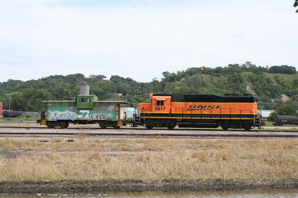 Transfer Equipment Idles in the BNSF Yard