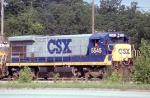CSX 5545 with the turn to Homerville