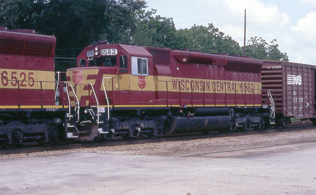WC 6582 on WB freight
