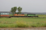 SD40-2 powered stack train