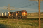 Westbound intermodal chases the fast setting sun