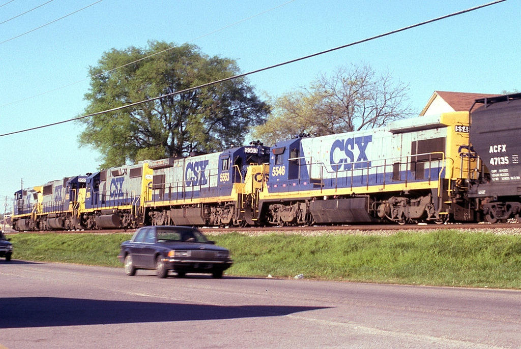 SB freight waiting in the siding