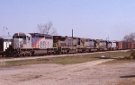 Two Alstom rebuilt sandwich CSX units on Q650