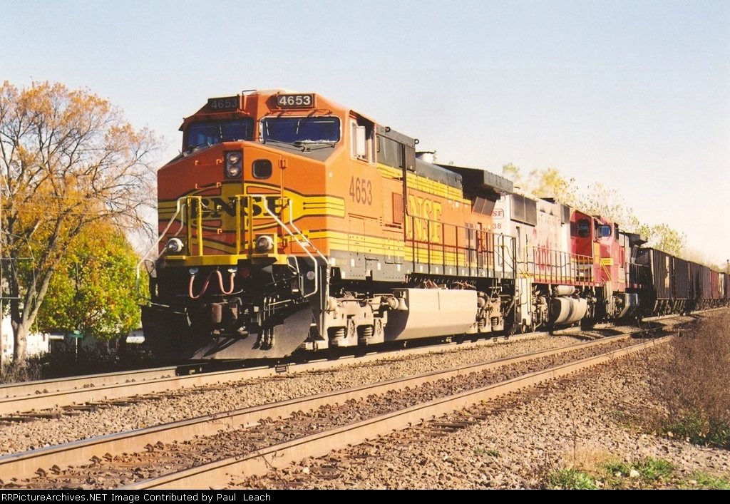 Westbound hopper train