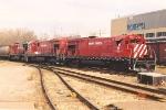 Transfer rolls through Amtrak station