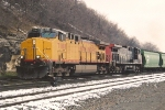 Grain train departs Belt Yard