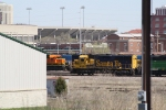 BNSF 3178 Passes Near Memorial Stadium, Home of the University of Nebraska Cornhuskers