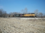 UP 5705 eastbound UP loaded coal train