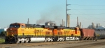 BNSF 7329 and BNSF 7498 comes into the Cherokee Yard
