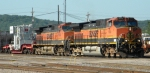 BNSF 970 & BNSF 1095 with a Huge load