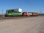 BNSF Cherokee Yard  466 Loco Power