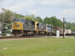 CSX 4695, 7801, 8004 Pulling Mixed Freight