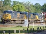 CSX 5406, 5292, and 156 Hauling an Intermodel Train