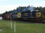 CSX 8432 and 8037 Pulling Away Faulty Boxcars